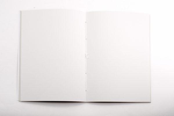 papier blanc du carnet Ecrin