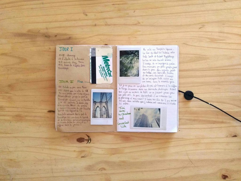 exemple double page carnet de voyage