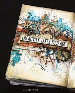 la créativité demande du courage car elle nous permet d'être nous-mêmes
