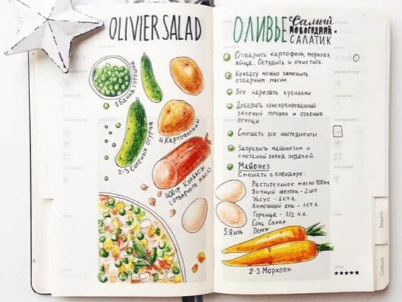 Le carnet de recettes : objet indémodable