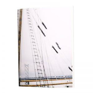 Le carnets de tous les marins et les amoureux de la mer. Un voilier en couverture comme messager de tes pensées et de tes moments créatifs
