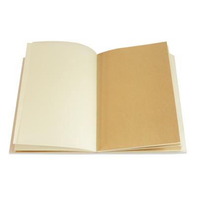le carnet barbra est composé de calque, de papier kraft et de papier dessin