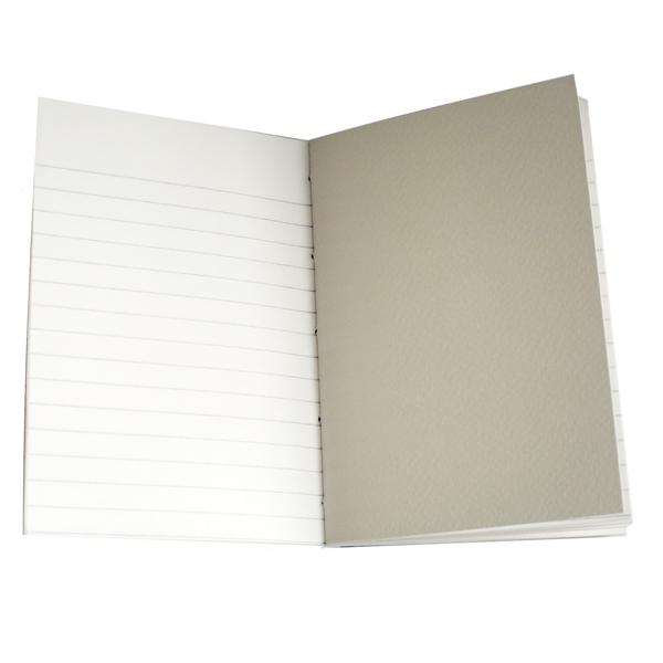 son papier ligné et son papier aquarelle te feront dessiner les paysages et raconté les périples