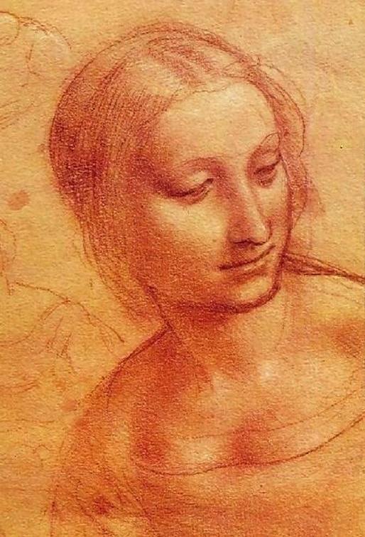 dessin à la sanguine de De Vinci