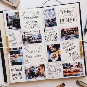un album photo peut aussi avoir des anecdotes, des récit et de jolies typographies