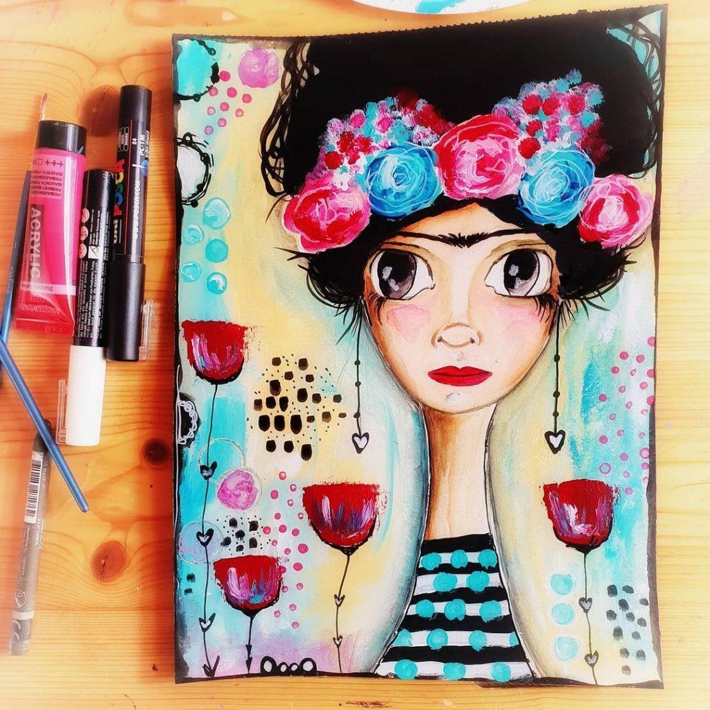 Frida flower par Vanessa de pretty days studio