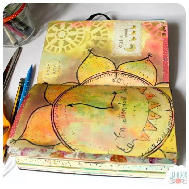la pratique de l'art journal avec jiji hook
