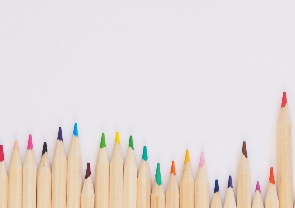 crayons de couleurs pratique à emporter avec soi