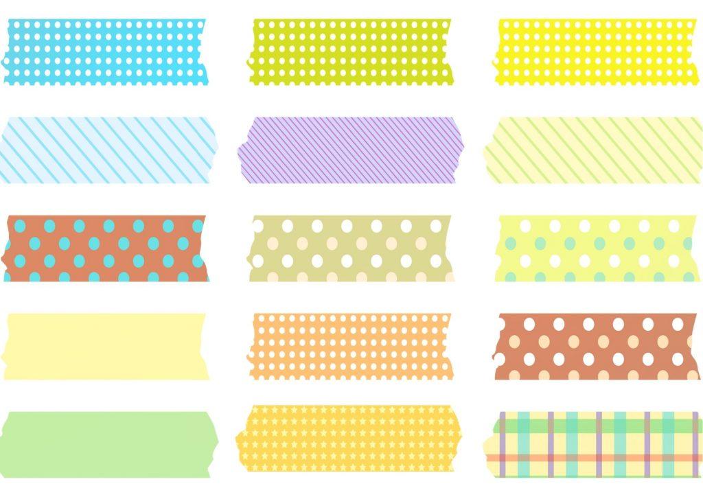 des washi tape de la couleur facile