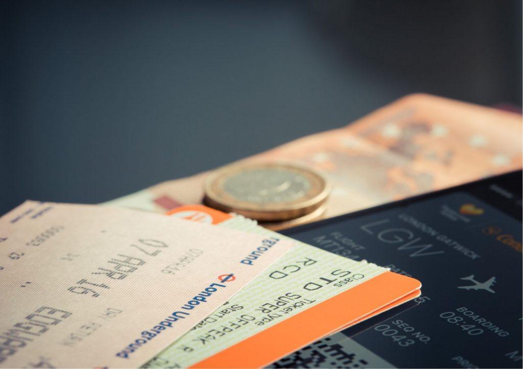 billet d'avion souvenir de voyage