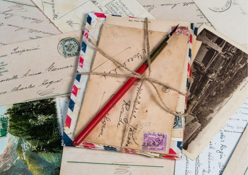 enveloppes envoyées de l'étranger